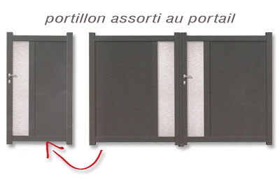 portail aluminium design. Black Bedroom Furniture Sets. Home Design Ideas